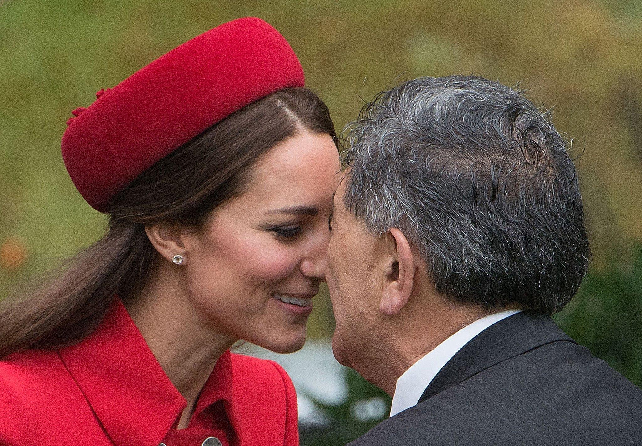 Maori Greeting Hongi: And Tackled The Maori Kissing Tradition, Hongi.
