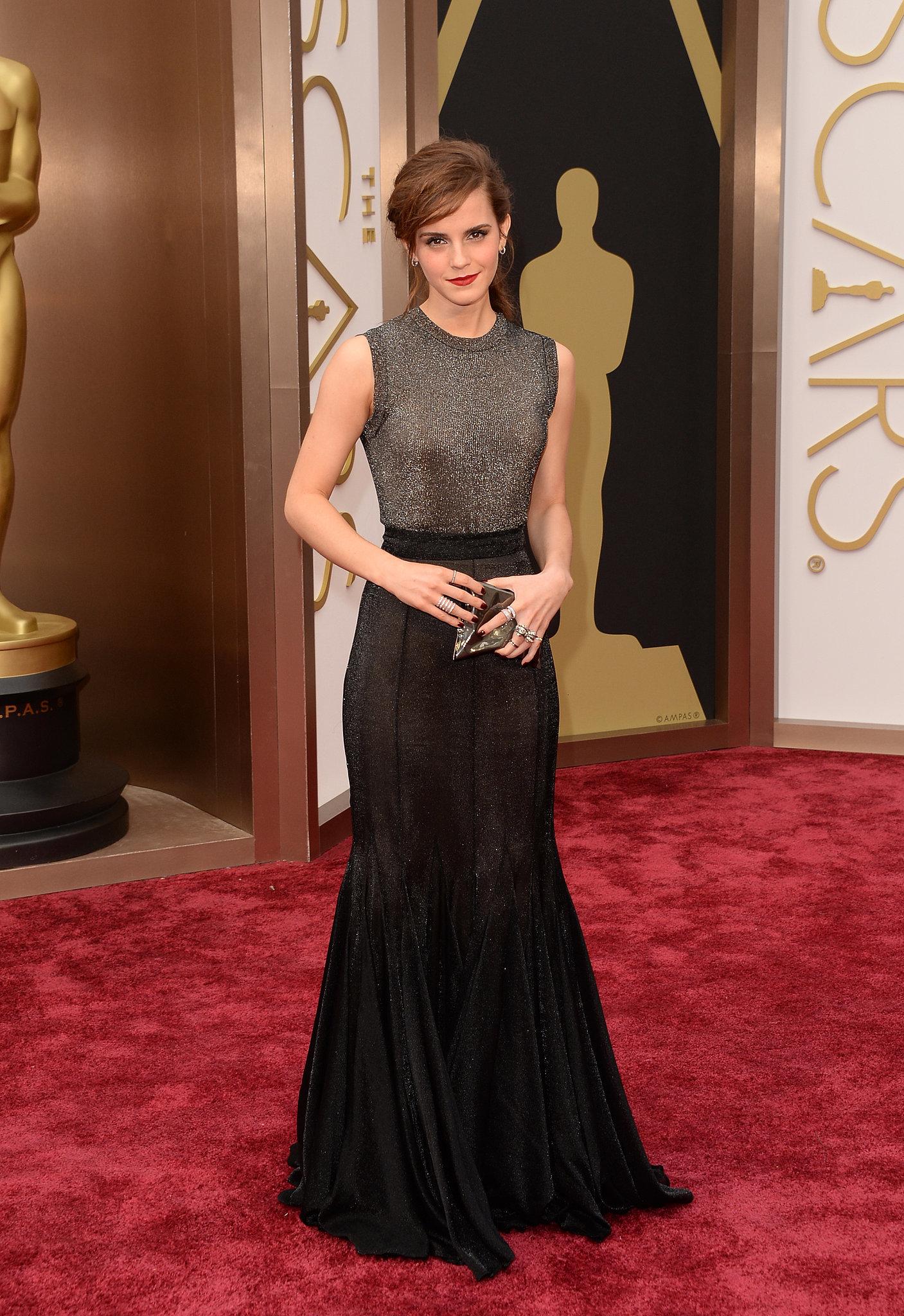 Emma Watson in Vera Wang at 2014 Oscars