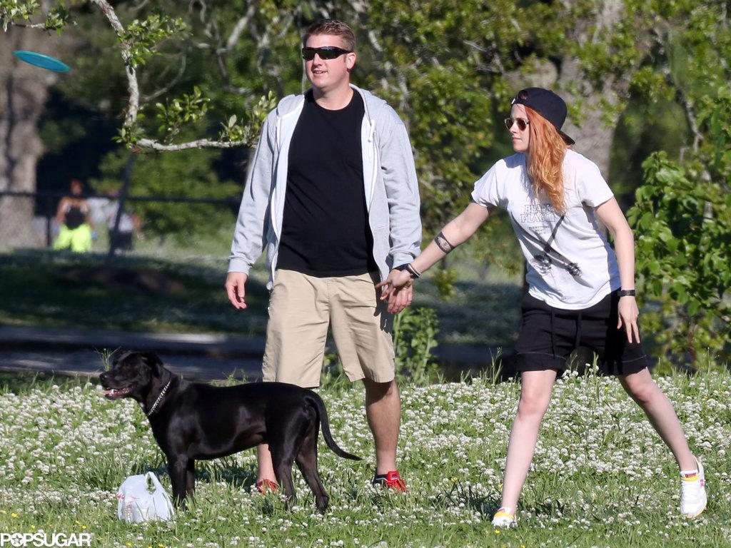 Kristen Stewart Celebrates Her Birthday With Beer and Frisbee