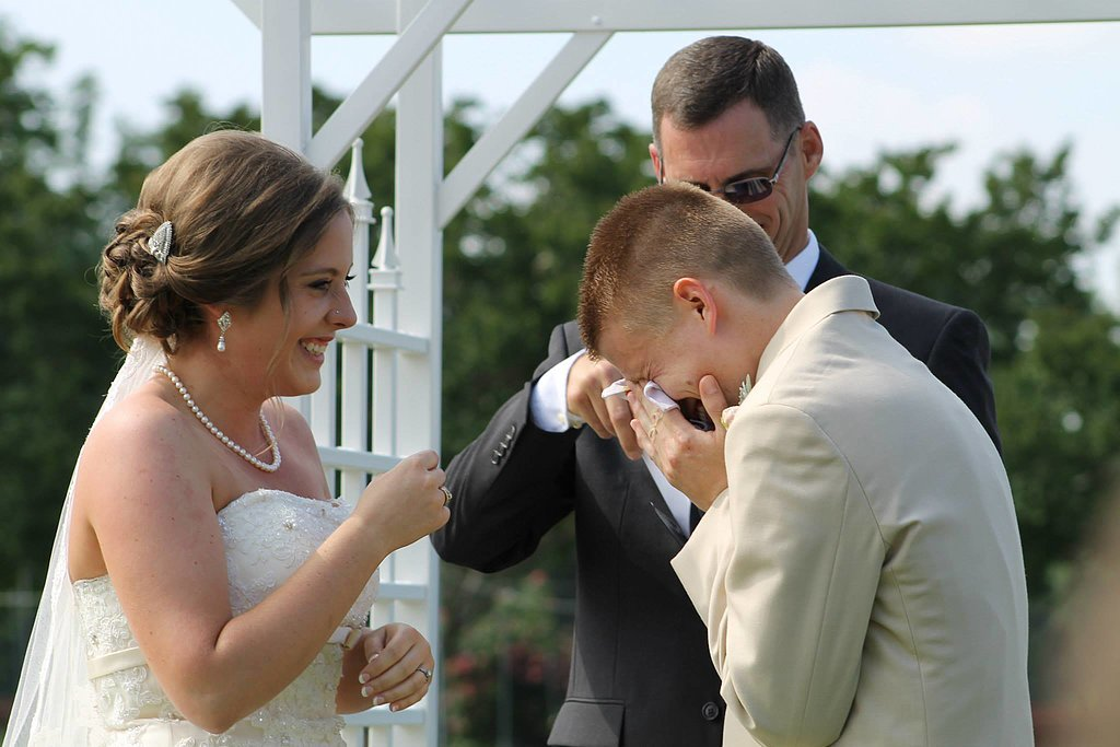 Groom Moved to Tears by Bride's Beautiful Vow