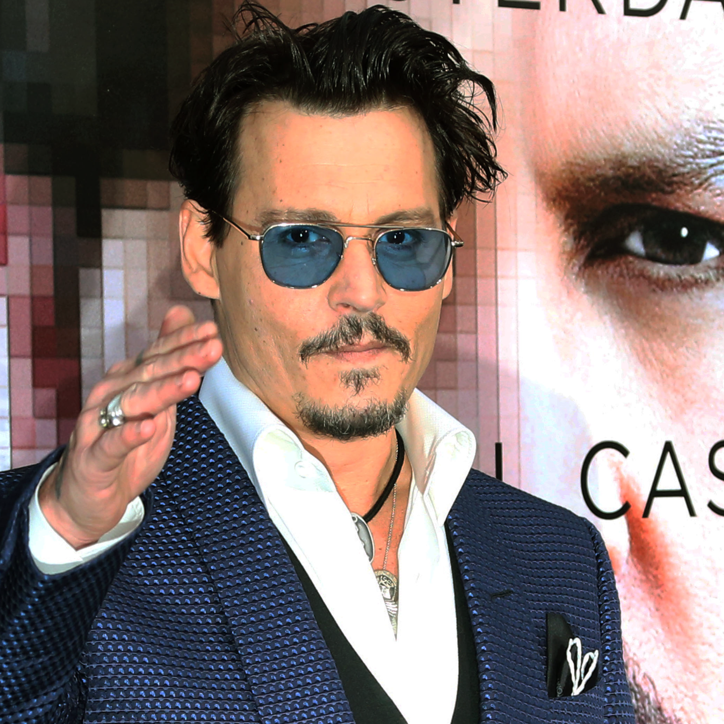 Johnny Depp: Johnny Depp At The Transcendence Premiere