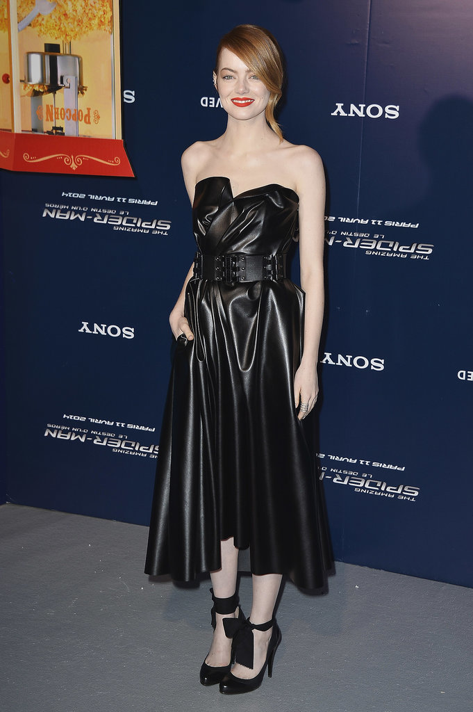 Emma Stone at the Paris Premiere of The Amazing Spider-Man 2
