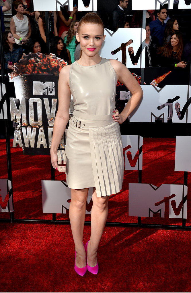 Holland Roden at the 2014 MTV Movie Awards