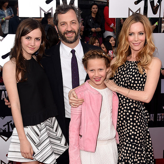 Leslie Mann and Judd Apatow at the MTV Movie Awards 2014