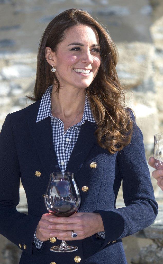 Kate Middleton in a Navy Blazer