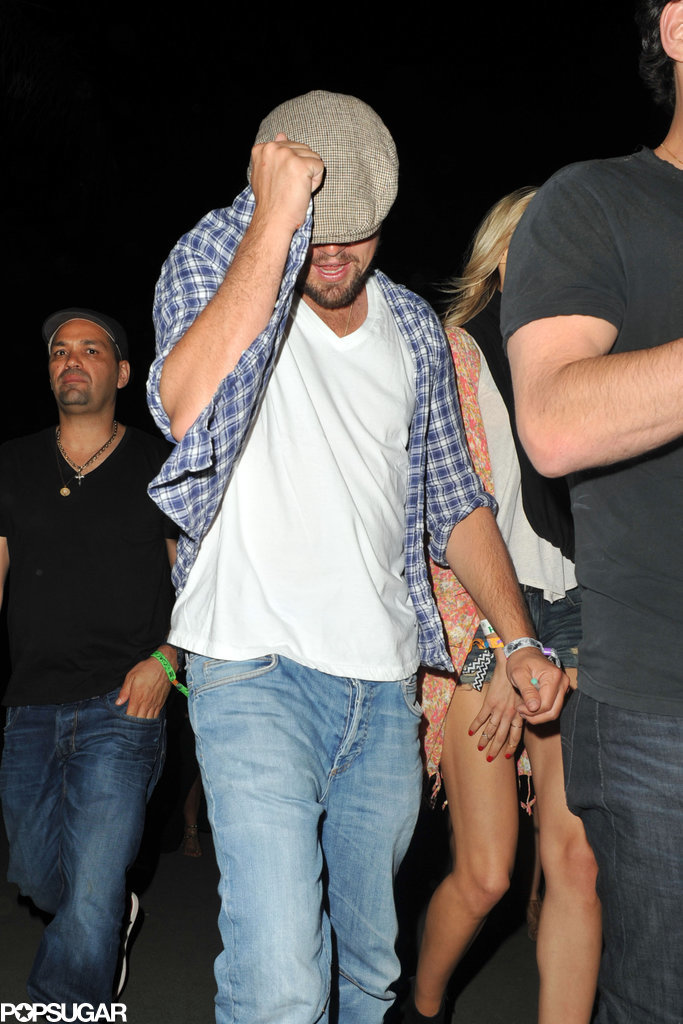 Leonardo DiCaprio hid, though he showed off his dancing skills at the festival.