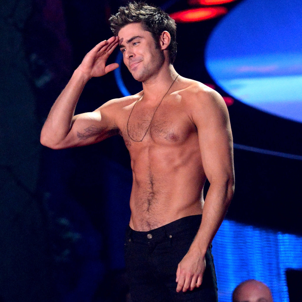 Zac Efron Shirtless at the MTV Movie Awards 2014 ... Zac Efron Movies