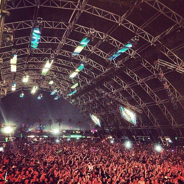 Jared Leto snapped the crowd during Zedd's performance.  Source: Instagram user jaredleto