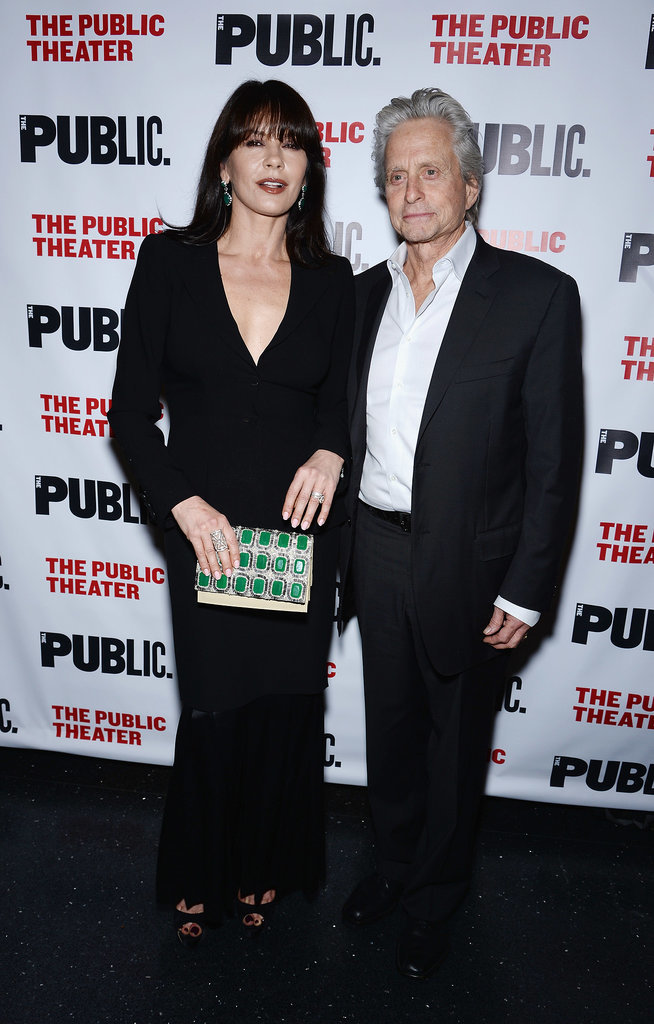 Catherine Zeta-Jones and Michael Douglas made their first public appearance after reconciling at the opening night for The Library in NYC on Tuesday.