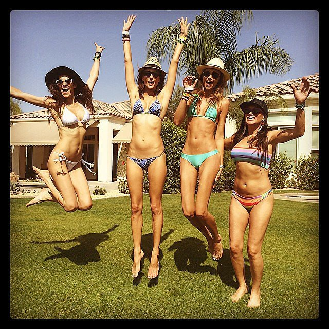Alessandra Ambrosio and her friends showed off their bikini bodies at Coachella. Source: Instagram user alessandraambrosio