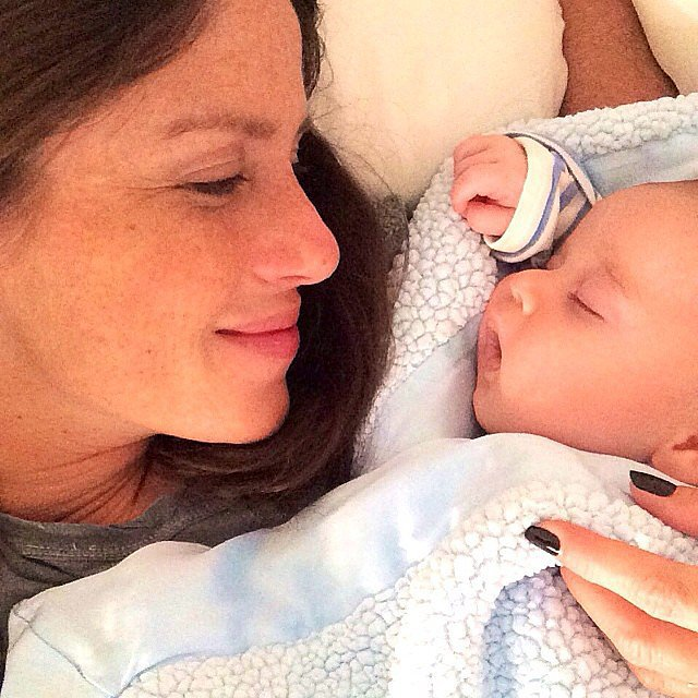 Soleil Moon Frye enjoyed some quiet time with her baby boy Lyric.  Source: Instagram user moonfrye