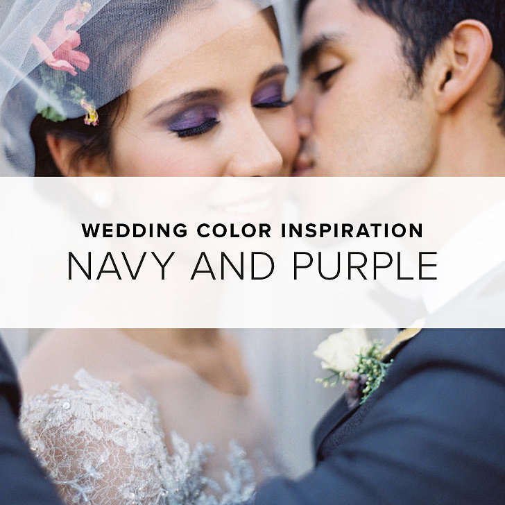 Wedding color inspiration navy and purple shopstyle notes Navy purple color