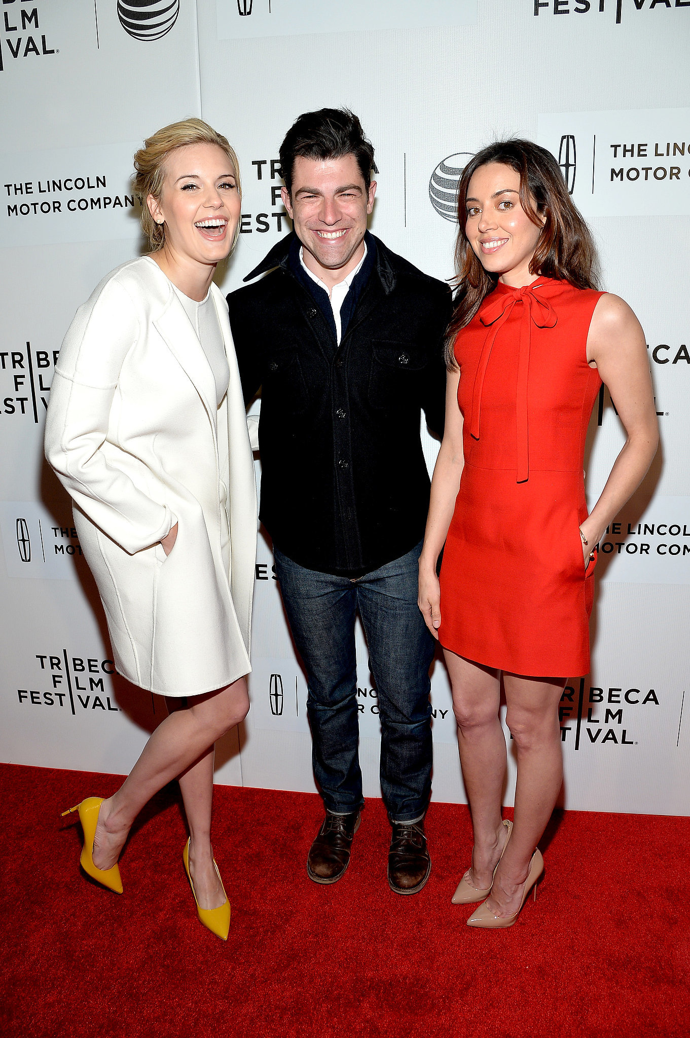 Maggie Grace, Max Greenfield, and Aubrey Plaza premiered About Alex.
