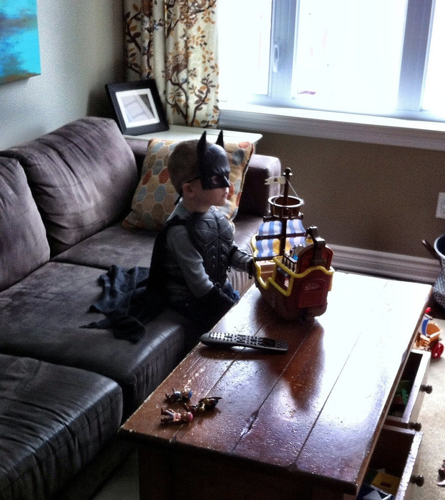 """My best friend's son, watching old school Ninja Turtles and just being 5."" Source: Reddit user curi"