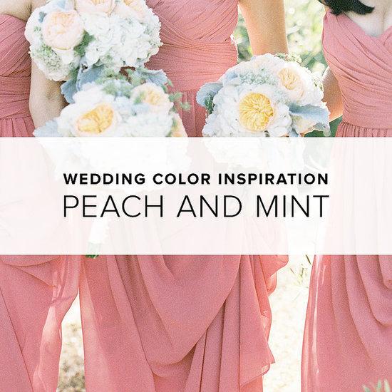 Peach and Mint Wedding Theme | Shopping