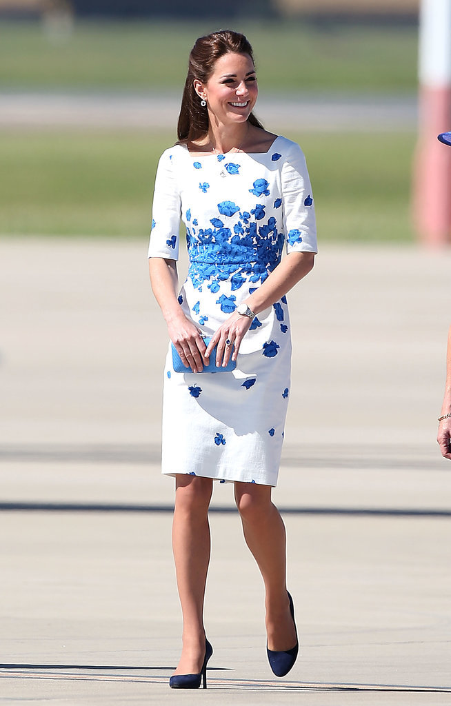 Kate Middleton in Blue-and-White Floral