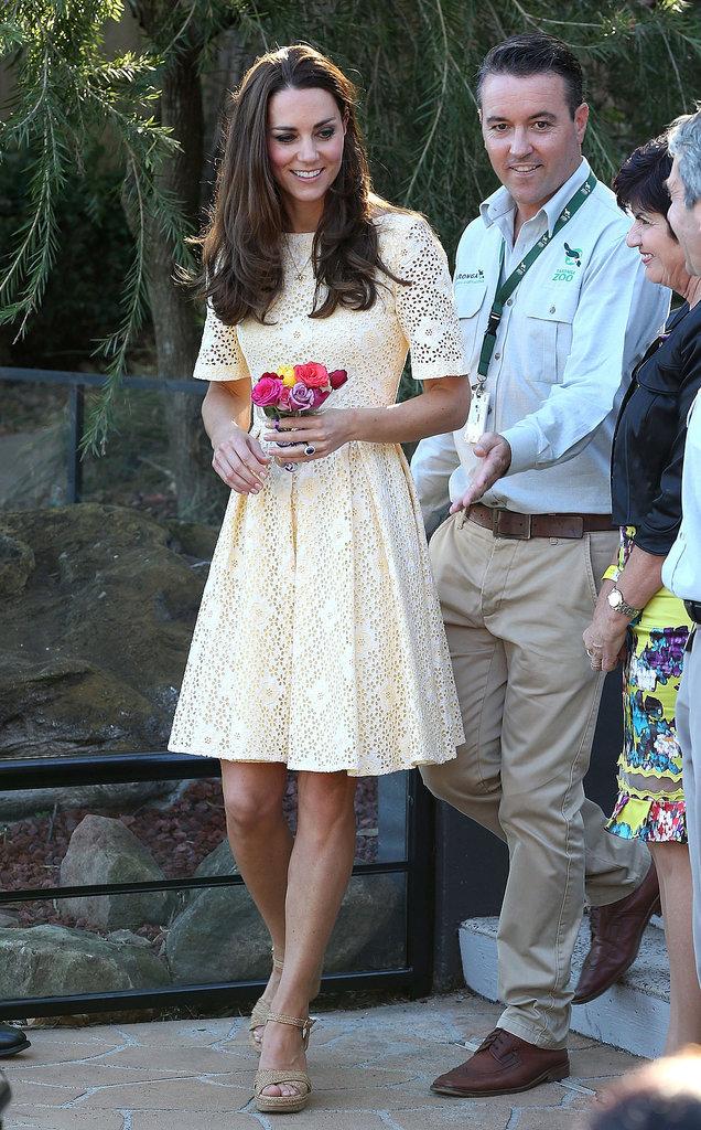 Kate Middleton in Yellow Eyelet