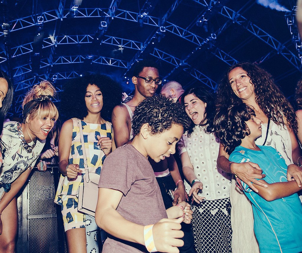 Beyoncé and Solange lit up while watching Solange's son, Daniel, dance.  Source: Tumblr user beyonce