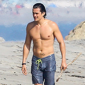Orlando Bloom Shirtless in Santa Barbara