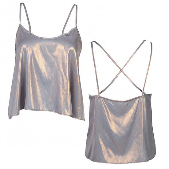'90s-Inspired Metallic Strappy Camisole by Another8