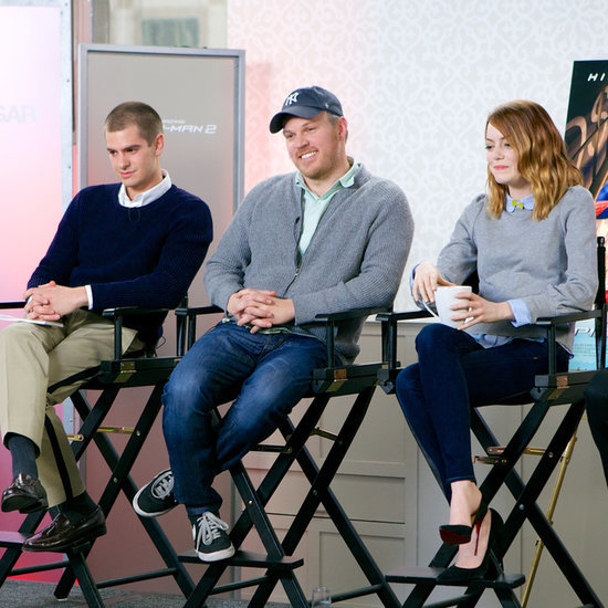 Emma Stone and Andrew Garfield at POPSUGAR 2014