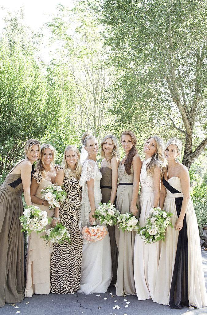 Matching Bridesmaids Dresses