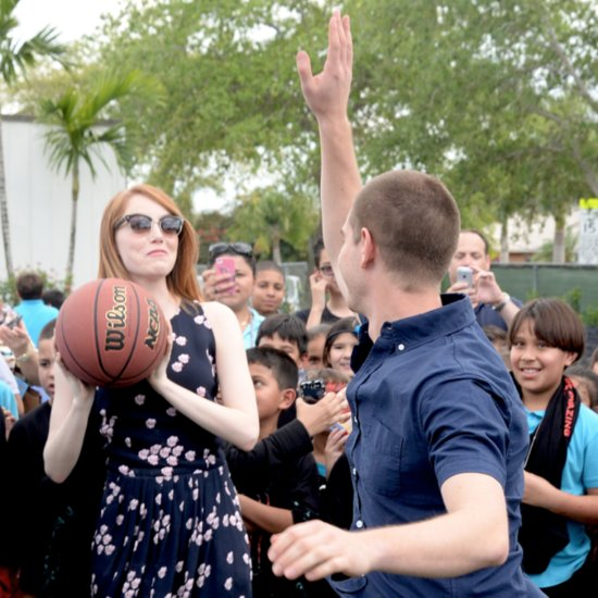 Emma Stone and Andrew Garfield at Volunteer Day in Miami