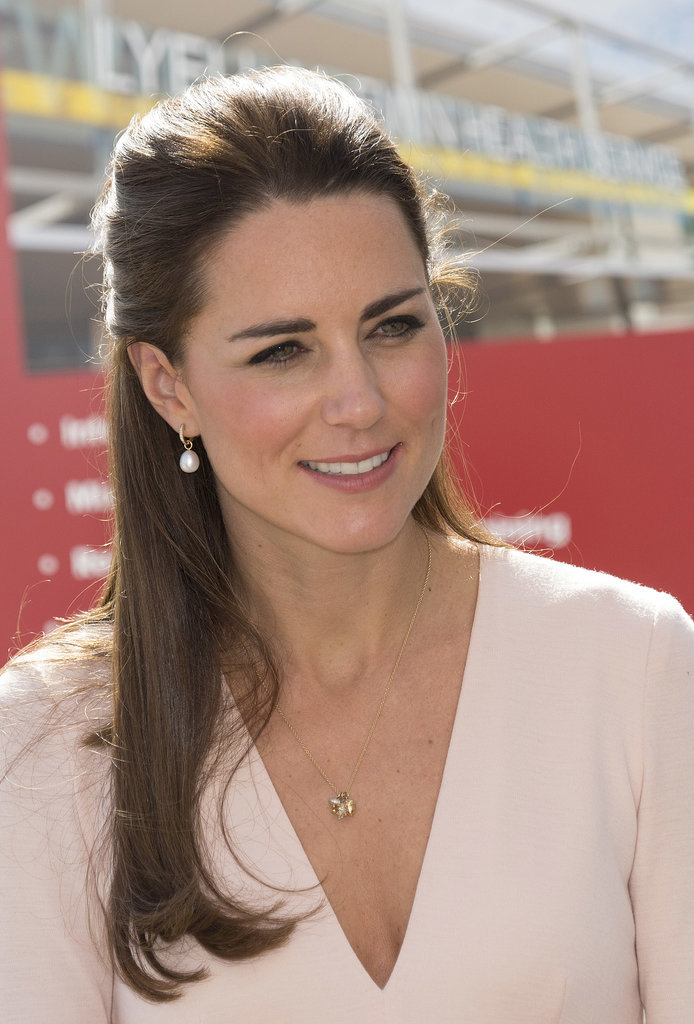 Kate Middleton in a Low-Cut Top | POPSUGAR Celebrity