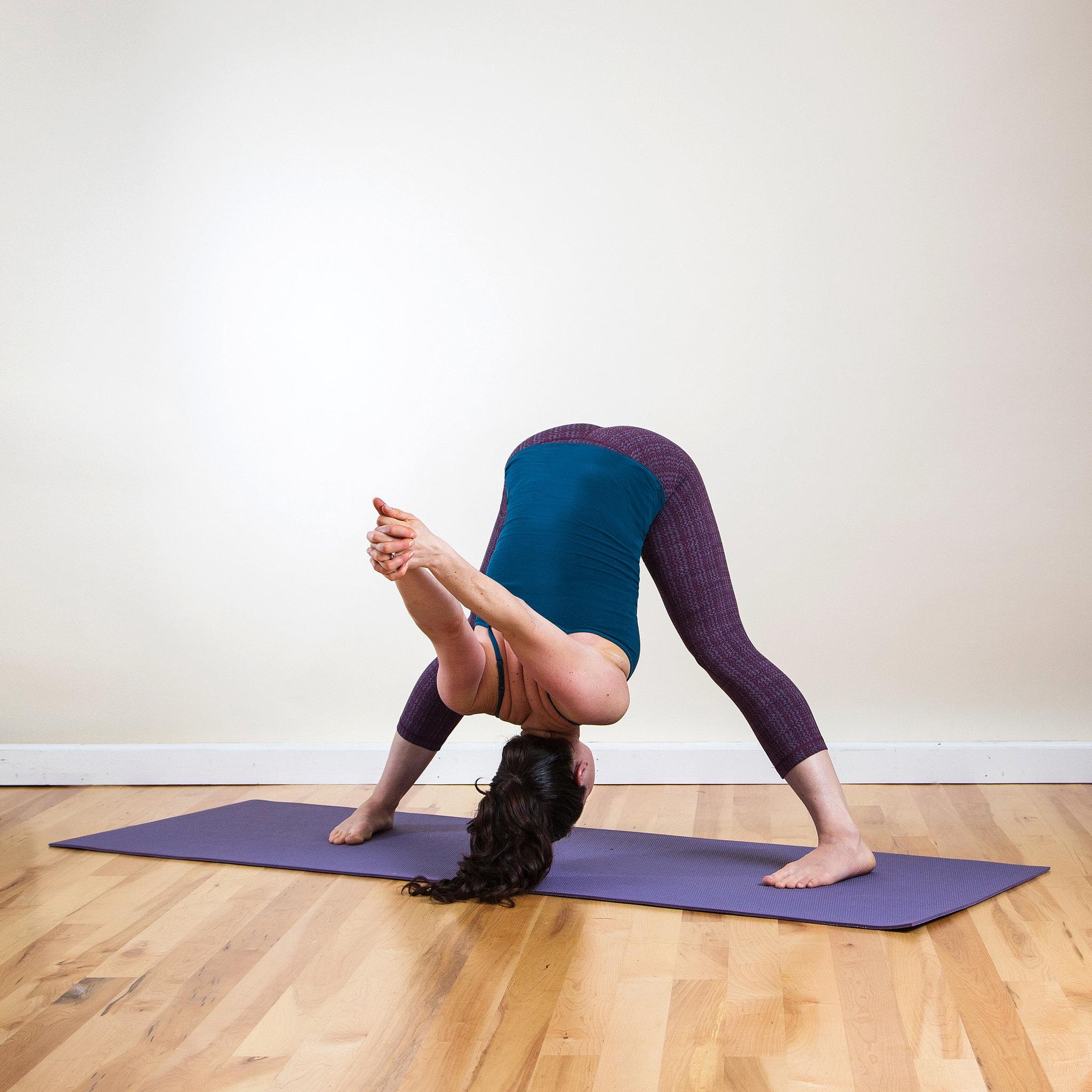 Yoga Pose 1: Wide-Legged Forward Bend C