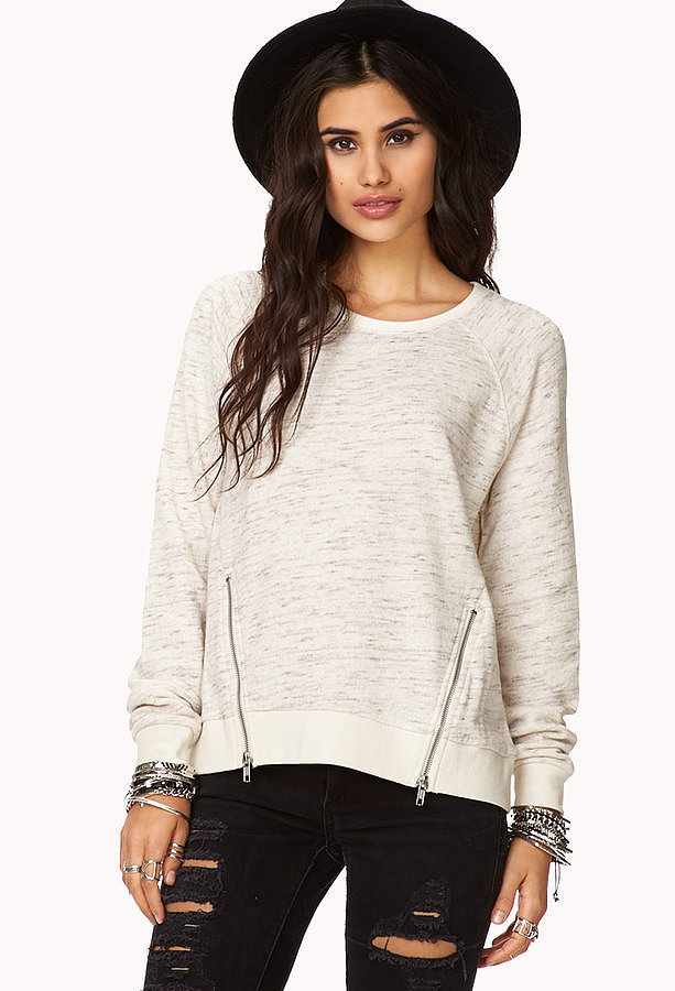 Forever 21 Sweatshirt With Zippers
