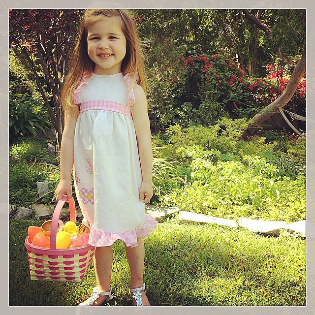 Harper Smith had quite a basket of loot after her Easter egg hunt. Source: Instagram user tathiessen
