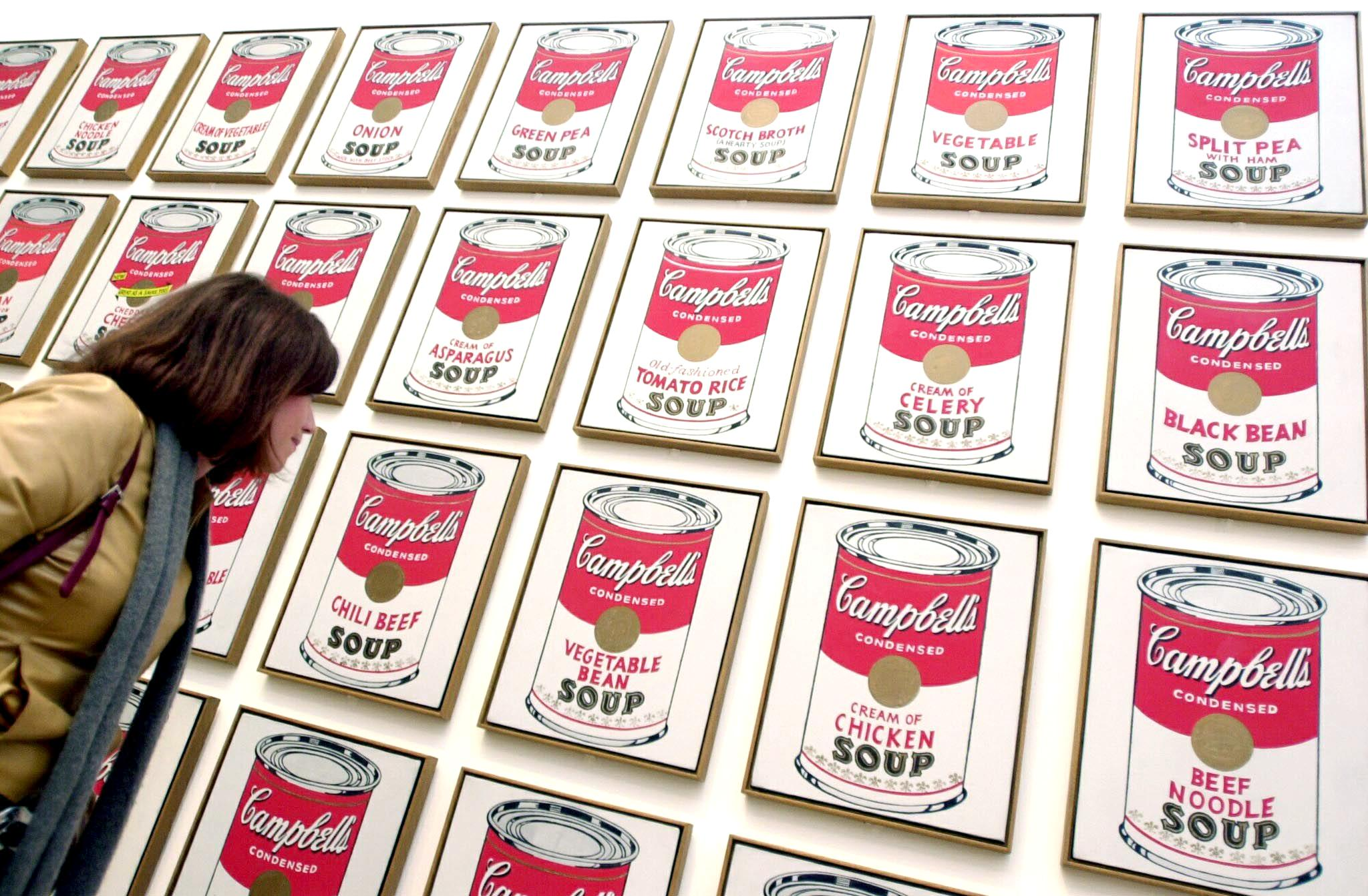Andy's Most Iconic Works — Campbell's Soup Cans, 1962