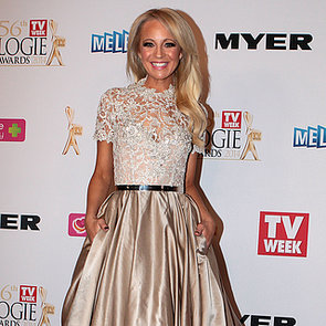 Carrie Bickmore at 2014 Logies in Paolo Sebastian Dress