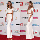 Jennifer Hawkins' Dress on the 2014 Logies Red Carpet