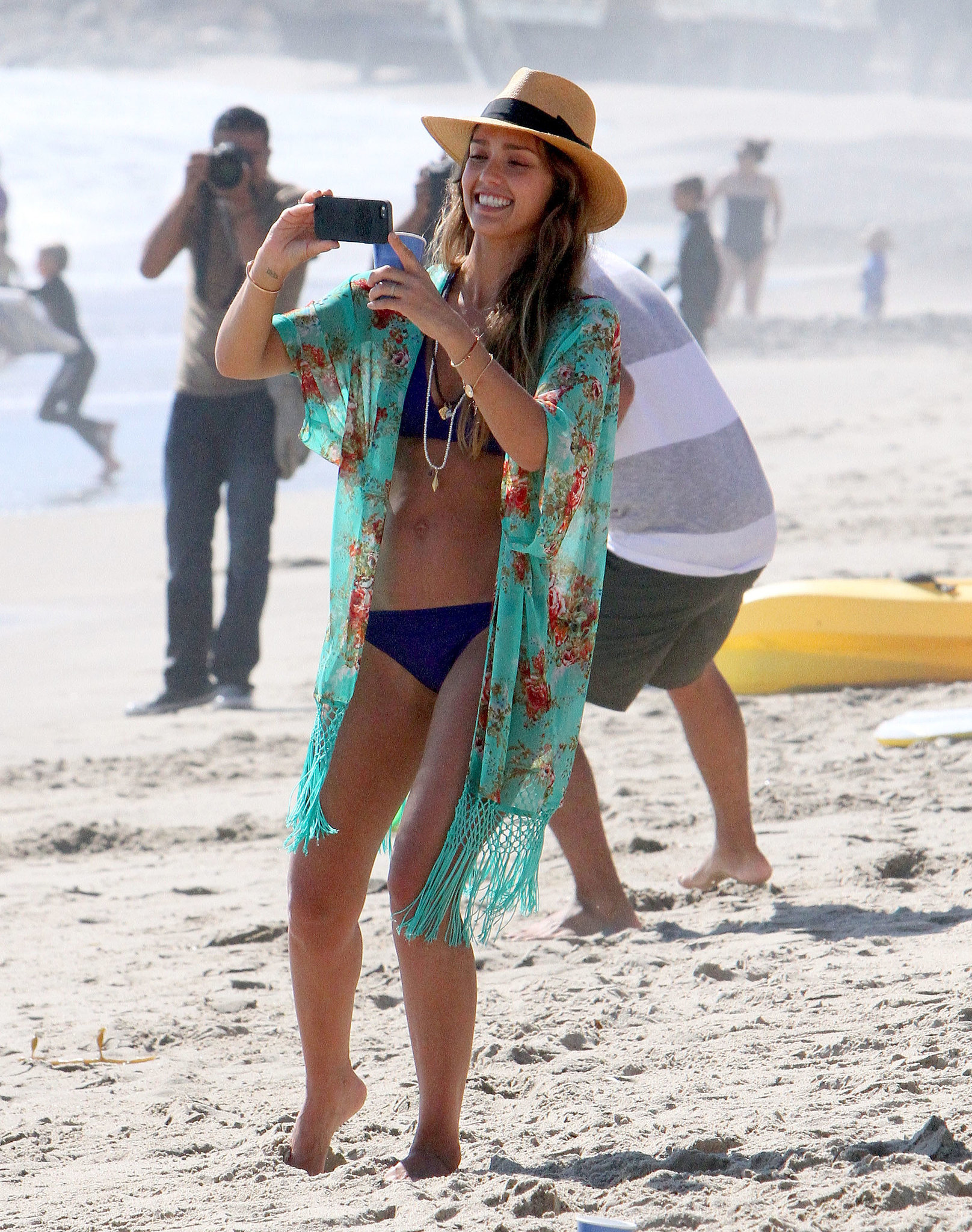 Jessica snapped a pic of her family over Labor Day weekend in September 2013 in Malibu, CA.
