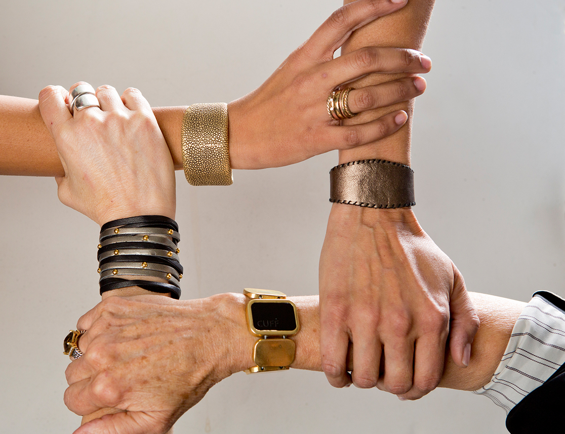 Sure, it won't be ready to ship until the Fall, but mom will certainly be happy to wait for this superstylish collection of security bracelets ($35-$150). The cuffs come with a small sensor that send loved ones an SOS notification if mom finds herself in a tricky situation. Safety first!  Source: CuffLinc