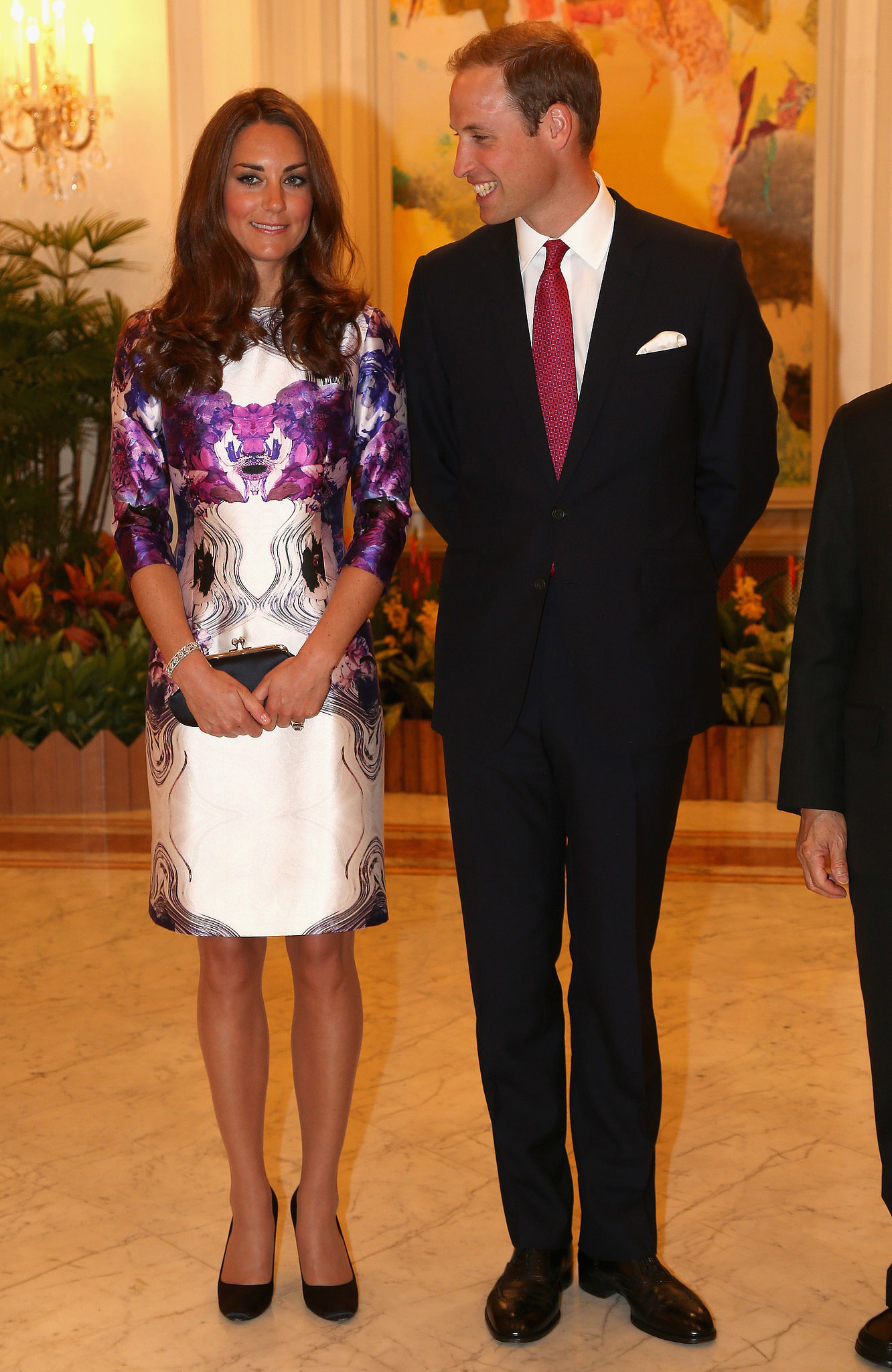 Prince William gave Kate Middleton a smile in September 2012 while they visited Singapore.