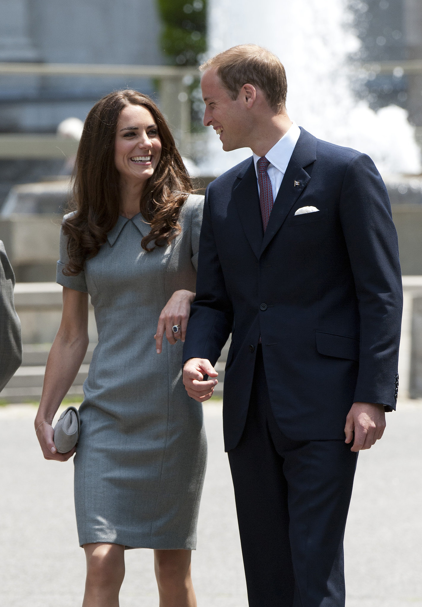 Prince William and Kate Middleton kept close during an appearance in Canada in July 2011.