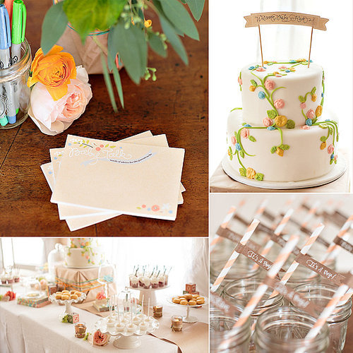 A Vintage Garden-Themed Baby Shower
