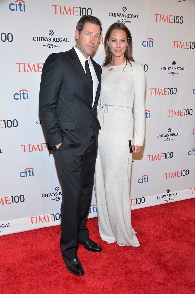 Ed Burns and Christy Turlington posed on the red carpet.