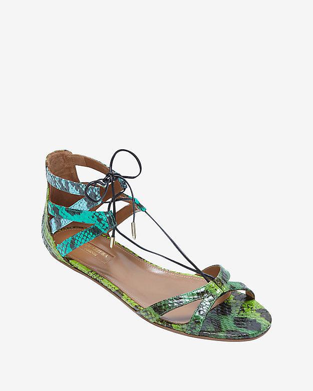 Aquazzura Beverly Hills Lace-Up Sandal