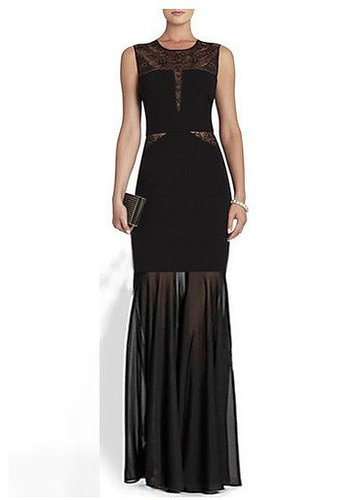 Open Back Lace Bandage Long Dress