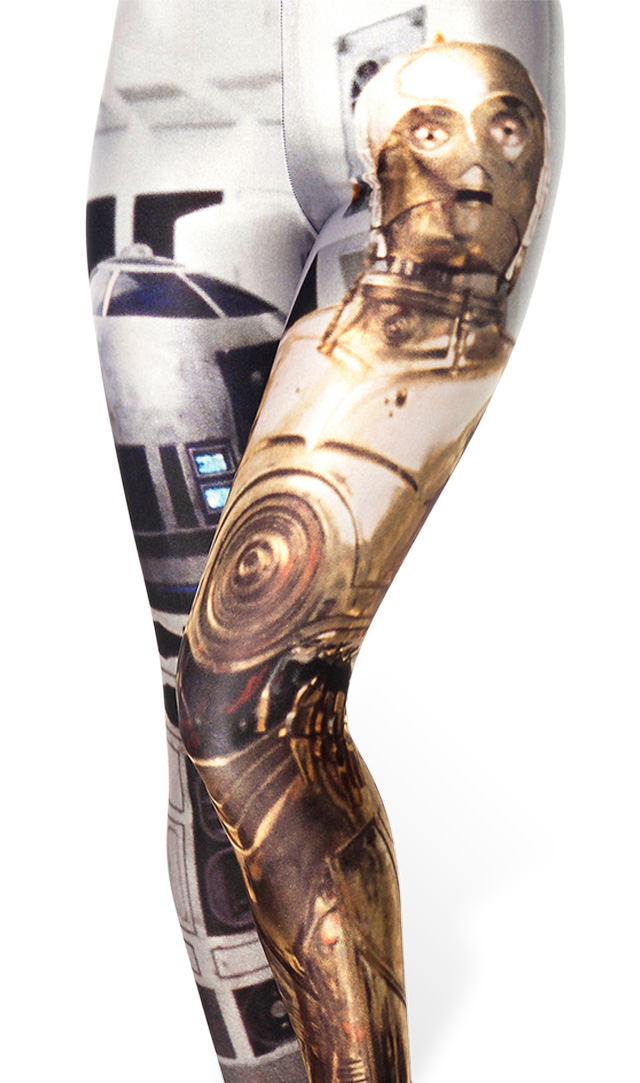 You may have noticed printed leggings are having a major moment right now. And it doesn't get any greater than a dynamic droid duo on these Black Milk Artoo and Threepio Leggings ($79). They're the ultimate conversation starter, and just think of all the outfit possibilities! — KS