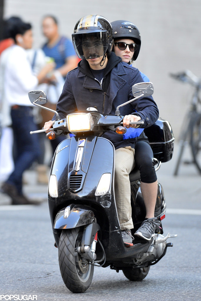 Sometimes they ride on Justin's Vespa.