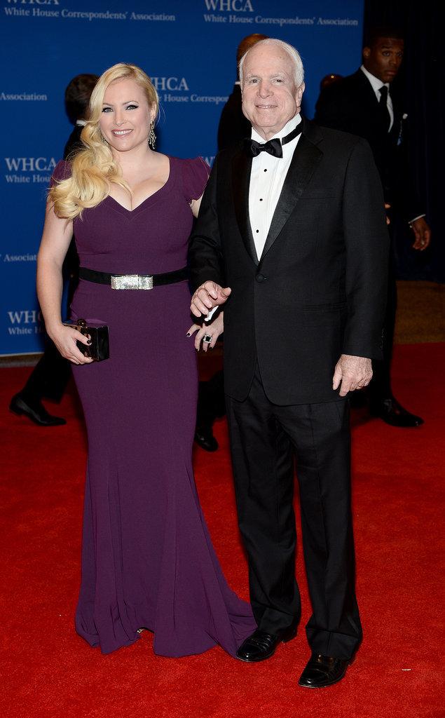 John McCain brought his daughter Meghan.