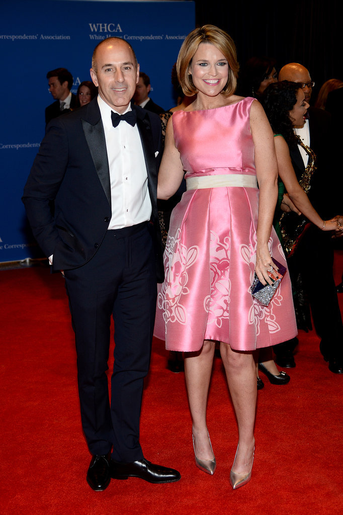 Today anchors Matt Lauer and Savannah Guthrie attended the event together.