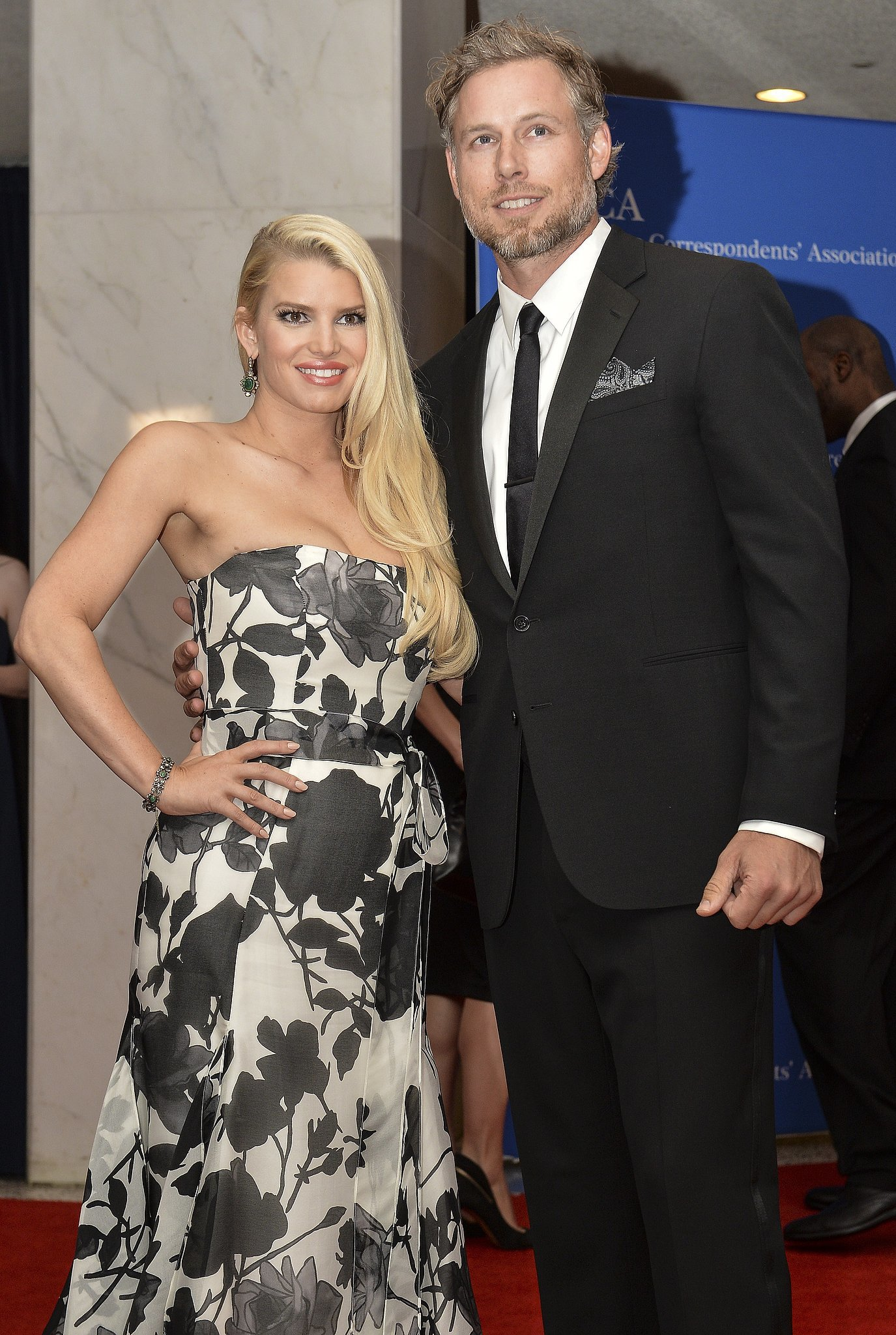 Jessica Simpson and Eric Johnson were one of the celebrity couples at the star-studded White House Correspondents' Dinner in Washington DC.
