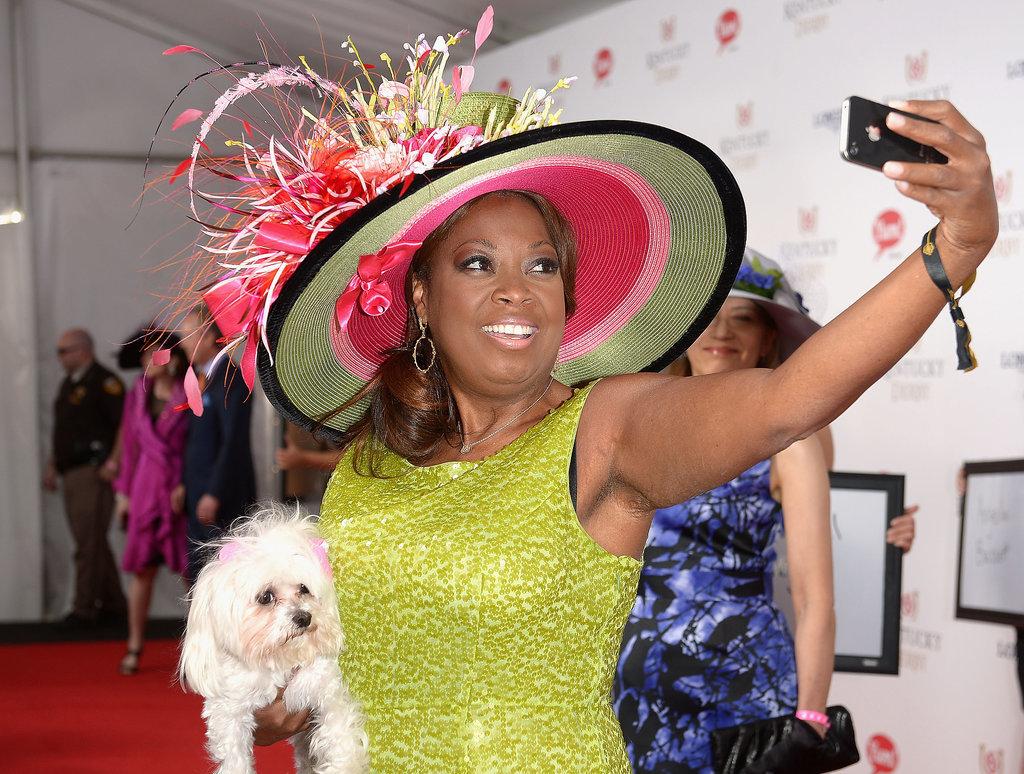 Star Jones took a selfie with her dog.