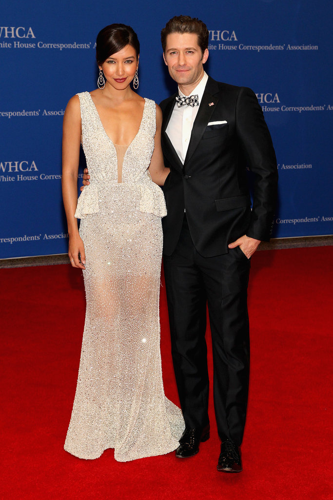 Renee Puente and Matthew Morrison posed for photos together.