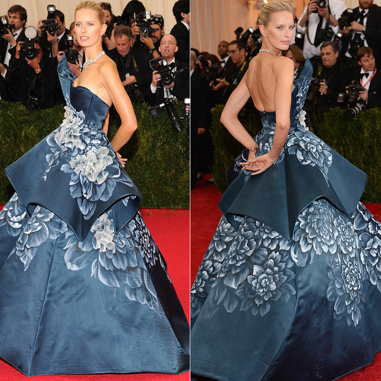 Karolina Kurkova Marchesa Dress at Met Gala 2014